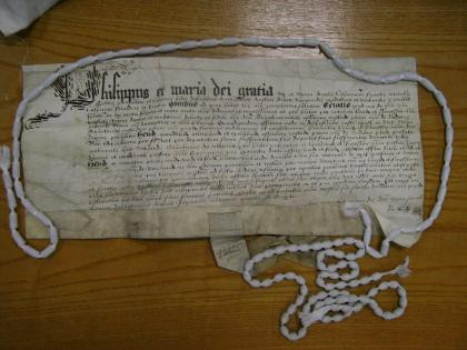 Letters patent of Philip & Mary to Sir Richard Shireburne