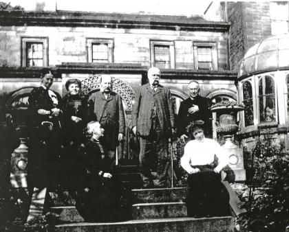 Family to south of Leagram Hall © reproduced with thanks to Chipping Local History Group